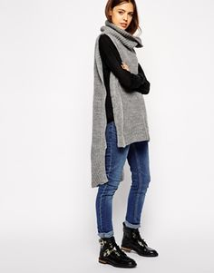 ASOS Cape With Roll Neck