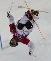 JO Sotchi - Février 2014 - «J'ai réussi la meilleure descente de ma vie», a déclaré Alexandre Bilodeau, qui en est à ses derniers Jeux olympiques. Photo Dylan Martinez, Reuters