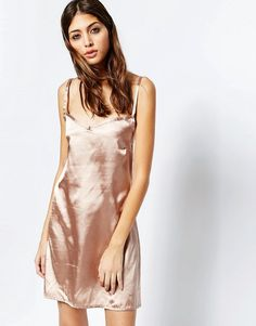 Image 1 of See You Never Rose Gold Slip Dress