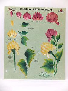 Donna-Dewberry-One-Stroke-Painting-RTG-Daisies-Chrysanthemums-Worksheet-Flower http://stores.ebay.com/FlyingKalie