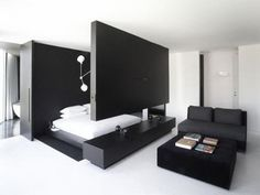 Contemporary Black and White Bedrooms Ideas