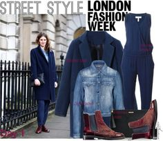 """""""Street Style: LFW Day 1"""" by arethaman ❤ liked on Polyvore"""