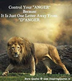 Control Your Anger Because It Is Just One Letter Away From Danger