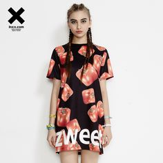 [INXX] ZIZTAR nou lung T-shirt rochie ZT52016732 Short Sleeve Dresses, Dresses With Sleeves, Lunges, Fashion, Gowns With Sleeves, Moda, Fashion Styles, Fashion Illustrations, Fashion Models