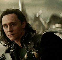 Love this gif of Loki.<- Indeed...wow this is pretty <<< Can we talk about how majestic his hair looks in this GIF? It needs to be in an Asgardian hair commercial.