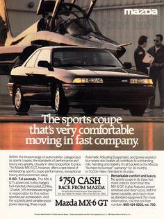 1989 Mazda MX-6 GT.