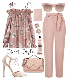 A fashion look from September 2016 featuring ruffle top, tailored pants and pointed-toe pumps. Elegant Outfit, Classy Dress, Classy Outfits, Stylish Outfits, Girls Fashion Clothes, Fall Fashion Outfits, Professional Outfits, Colorful Fashion, Dressing