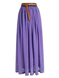 """""""Ultimate Maxi Skirt"""" - Light Purple"""