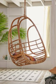Slide View: 1: Tenley Rattan Swing Chair