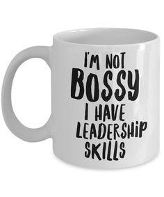 Bossy Mug I'm Not Bossy Boss Mugs Girl Boss Mug Office Mug Funny Mugs Gift for Boss Lady Mug Coworker Gifts Coworker Coffee Mug Office Mug - Coffee Mug Quotes, Cute Coffee Mugs, Coffee Gifts, Cute Mugs, Coffee Humor, Funny Mugs, Gifts In A Mug, Coffee Cups, Coffee Coffee