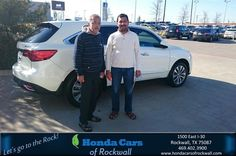 https://flic.kr/p/DBkvL3 | Congratulations Dinesh on your #Acura #MDX from Art Sanders at Honda Cars of Rockwall! | deliverymaxx.com/DealerReviews.aspx?DealerCode=VSDF