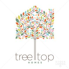 tree top home design and realty logo Tree Drawing Simple, Sweet Logo, Property Logo, Pine Tree Tattoo, Tree Graphic, Tree Logos, Real Estate Logo, Graphic Design Layouts, Trendy Tree