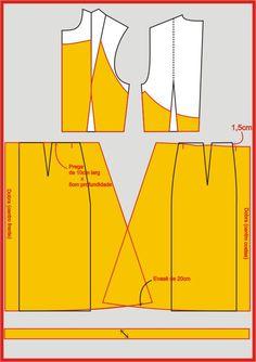 Aprenda de uma maneira bem simples, o passo a passo do traçado do molde deste vestido Michael Kors Aproveitando o espírito primaveril... Pattern Cutting, Pattern Making, Dress Sewing Patterns, Clothing Patterns, Vestido Michael Kors, Sewing Collars, Sewing Pants, Modelista, Pattern Drafting