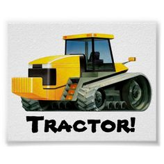 Huge Yellow Tractor Posters