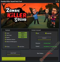 Unlimited Coins, Med Pack, Bones, Ammo, Unlock all weapons in Zombie Killer Squad  Download Zombie Killer Squad Cheats:  http://easiergame.net/zombie-killer-squad-cheat-hack-ios-android/