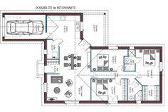 Modèle Sweet -- Plan maison mitoyenne 3 chambres - Disponible en 91, 92 et 99m² (selon disposition et mitoyenneté) -- Maisons MCA - Maisons de la Côte Atlantique Maison Mca, Norman, Architecture, House Plans, Floor Plans, Construction, How To Plan, Home Decor, Budget