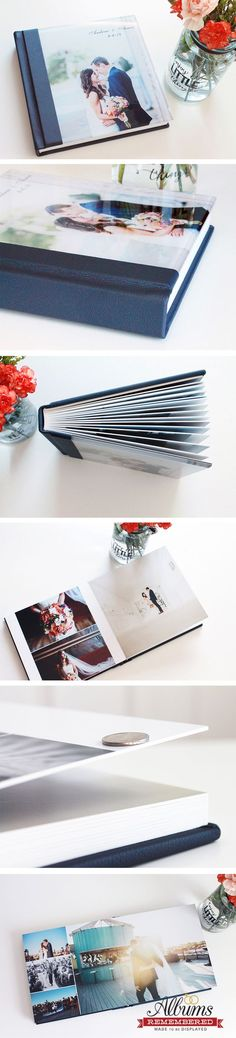 Hand bound wedding albums made with LOVE from Albums Remembered! These books will last a lifetime.