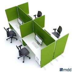 Panele między biurkowe