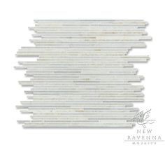 Tatami | New Ravenna Mosaics (Ready to ship tatami pattern shown in paperwhite and cloud nine (honed/polished mix)