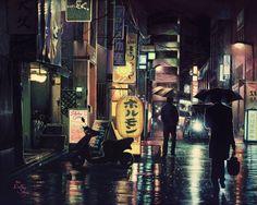 Tokyo Street Painting (24x30, Acrylic, 2016)