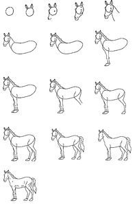 How To Draw A Horse Dessin Cheval Facile Animaux Faciles A