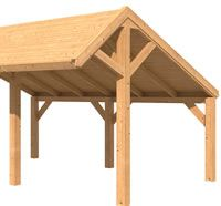 Modular Larch Apex Garden Building Components