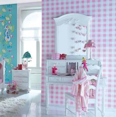 Pink gingham wallpaper #matildajaneclothing  #mjcdreamcloset
