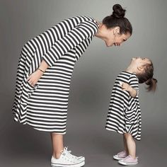 Summer Girls Dress Family Clothing Matching Outfits Fashion Stripe Mom And Daughter Matching Dresses Mommy And Me Clothes Mommy Daughter Dresses, Mommy And Me Dresses, Mother Daughter Dresses Matching, Mommy And Me Outfits, Mom Dress, Matching Family Outfits, Baby Outfits, Baby Dress, Kids Outfits