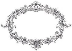 ramka Vintage Clip Art - Fancy Oval Frame - The Graphics Fairy Clip Art Vintage, Vintage Frames, Images Vintage, Vintage Labels, Printable Vintage, Vintage Corset, Vintage Graphic, Graphics Fairy, Craft Ideas