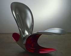 The Ron, a classy rocking chair from the factory of designer Ron Arad