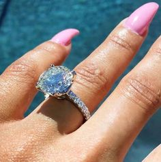 A gemstone solitaire may be the essential diamond engagement ring. Although other diamond engagement ring settings fall and rise in recognition, a solitaire ring is really a classic with constant, … Engagement Solitaire, Popular Engagement Rings, Celebrity Engagement Rings, Beautiful Engagement Rings, Engagement Ring Styles, White Diamond Ring, Diamond Solitaire Rings, Bling Bling, Kardashian