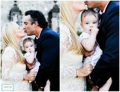 Another family shot of the Bride, Groom and Child.. and then the close up of the child. (: