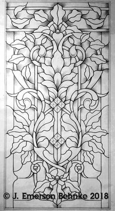 A pattern for stained glass. Builds to × Customers will receive two full size black and white copies via USPS. Faux Stained Glass, Stained Glass Designs, Stained Glass Patterns, Stained Glass Windows, Glass Painting Patterns, Pattern Coloring Pages, Colouring Pages, Sea Glass Art, Mosaic Glass