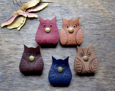Cord organizers owl Travel Gift earbud holder leather cable gift owl lover holder cable earbud organizer leather earphone organizerheadphone