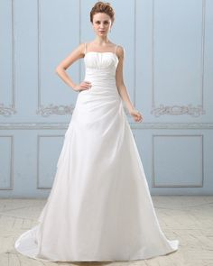 Taffeta Pleated Court Bridal Gown Wedding Dress  Read More:     http://www.weddingsred.com/index.php?r=taffeta-pleated-court-bridal-gown-wedding-dress.html