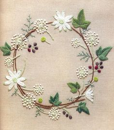 Wonderful Ribbon Embroidery Flowers by Hand Ideas. Enchanting Ribbon Embroidery Flowers by Hand Ideas. Embroidery Designs, Hand Embroidery Stitches, Crewel Embroidery, Embroidery Applique, Cross Stitch Embroidery, Machine Embroidery, Simple Embroidery, Flower Embroidery, Embroidery Scissors