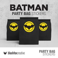 Batman Party Decorations, Batman Stickers, Loot Bags, Label Paper, Tent Cards, Party In A Box, Printed Bags, Party Bags, Printed Materials