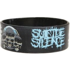 Best Bracelet 2017/ 2018 : Suicide Silence Rubber Bracelet | Hot Topic ($2.99)  liked on Polyvore featur