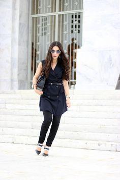 Anyelina's Closet: Dress over Pants