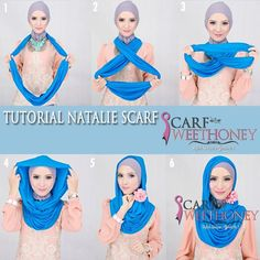 How to turn an infinity scarf into a hijab - easy and quick.