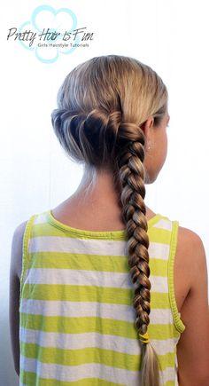 Pretty Hair is Fun: Rope Twist Combo Braid Holiday Hairstyles, Summer Hairstyles, Pretty Hairstyles, Braided Hairstyles, Little Girl Braids, Girls Braids, Princess Hairstyles, Little Girl Hairstyles, Sleeping With Wet Hair
