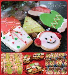 Christmas cookies by 2bi Cakes. https://www.facebook.com/2bicakes/posts/935594613188357:0