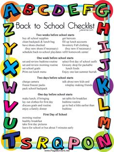 Back to School Checklist... Created by a teacher and parent, the Julieverse Back to School Checklist will have your family prepared for the first day so that the first day runs smoothly.