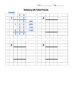 math worksheet : partial product multiplication lesson and worksheets  : Partial Product Multiplication Worksheet