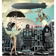 """Rainy Day Blimp"" by pettirosso on Polyvore"