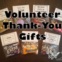 Volunteer Thank-You Gifts