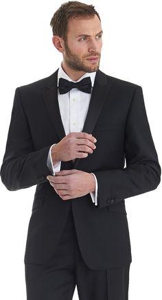 Ted Baker Endurance Tailored Fit Peak Lapel Dinner/Tuxedo Suit Black