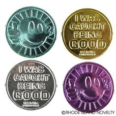 Reward your little ones with this I Was Caught Being Good Coin to show that good behavior doesn't go unnoticed! Each order contains 144 pieces in a variety of colors. #MEDALS #SchoolSupplies #Teachers #Teaching #Back2School