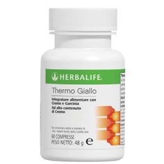 Thermojetics® Giallo : Integratore alimentare ricco di cromo che coadiuva il metabolismo dei macronutrienti e favorisce una naturale regolazione dei livelli di glucosio.La regolazione dei livelli di glucosio nel sangue durante la giornata può aiutare a ridurre i cali di energia che spesso sono all'origine della voglia di snack.Due compresse al giorno, durante i pasti principali. Per info: http://www.goherbalife.com/elenadellavella/it-IT