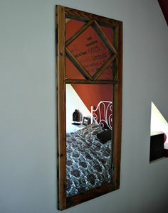 Chic mirror from an old window frame Vintage Loft style